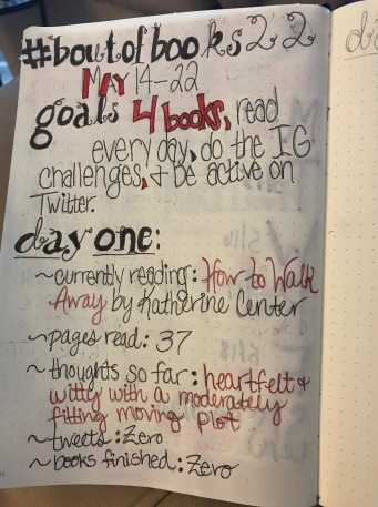 BoutofBooks Goals & Day 1